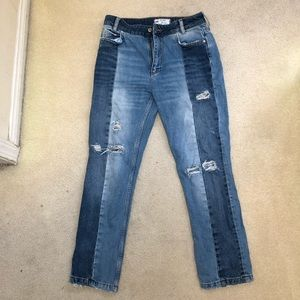 Free People Patch Boyfriend Jeans